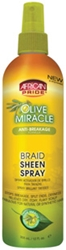 AFRICAN PRIDE BRAID SHEEN - OLIVE OIL 12 oz.