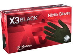 NITRILE GLOVES BLACK [LARGE]